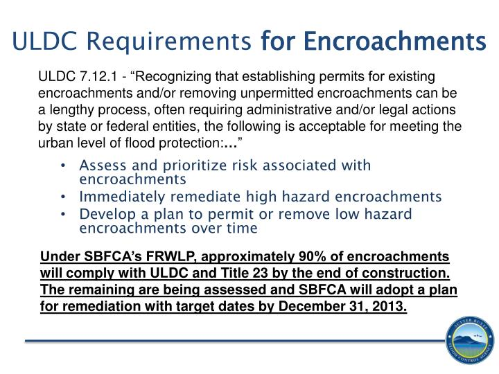 ULDC Requirements