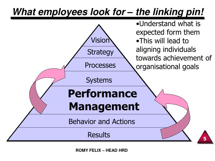 What employees look for – the linking pin!