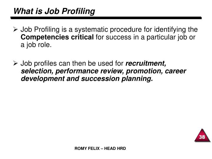 What is Job Profiling