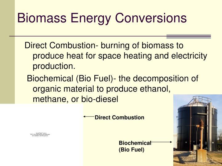 Biomass Energy Conversions