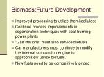 biomass future development