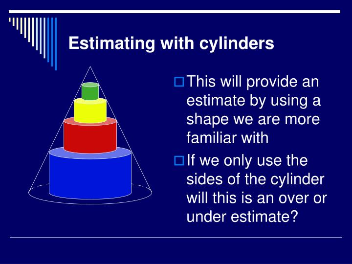 This will provide an estimate by using a shape we are more familiar with