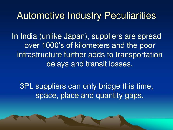 Automotive Industry Peculiarities
