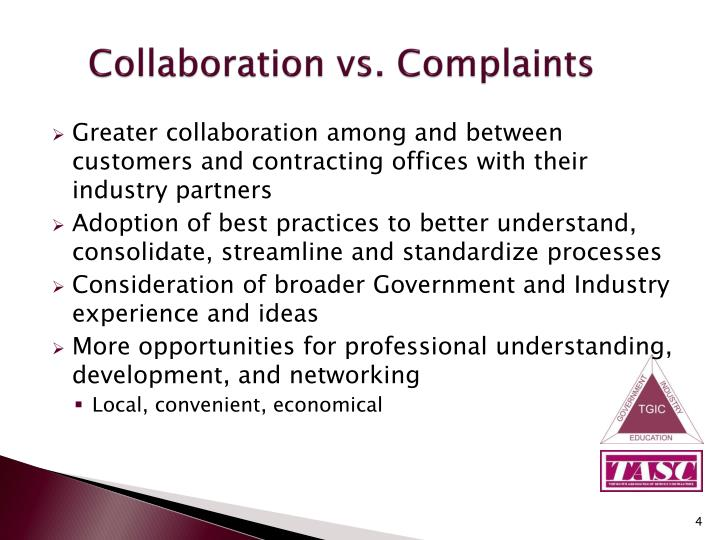 Collaboration vs. Complaints