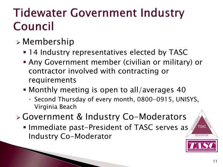 Tidewater Government Industry Council