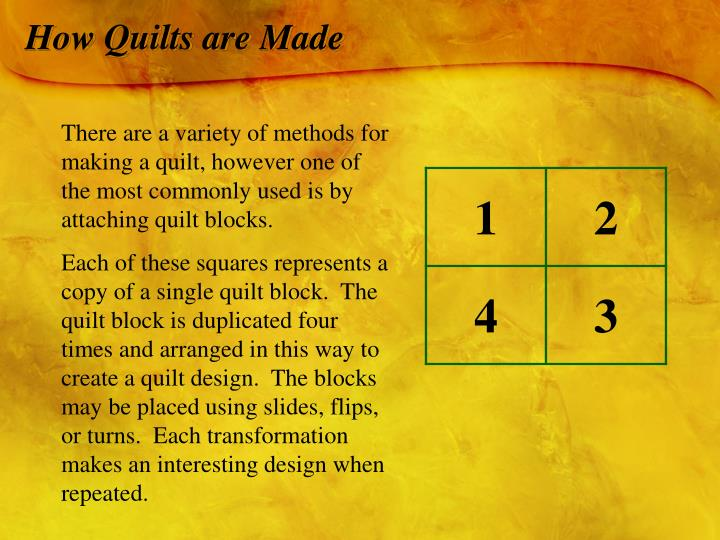 How Quilts are Made