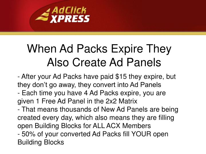 When Ad Packs Expire They