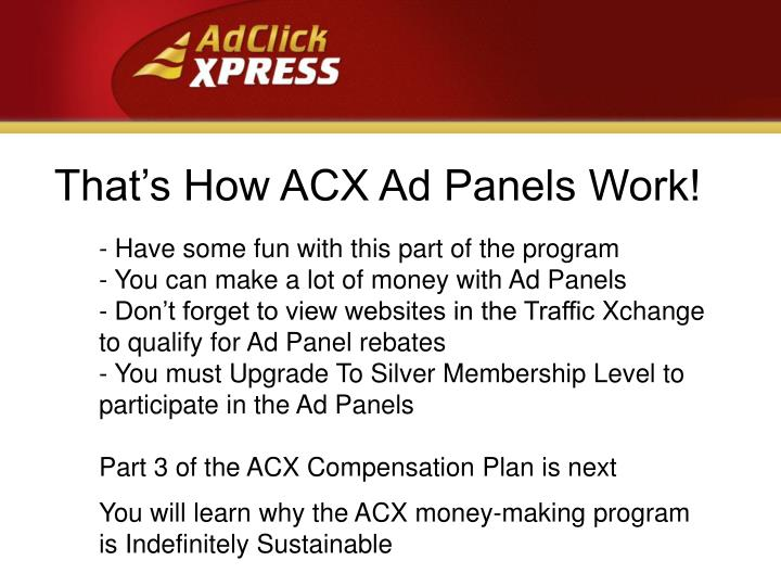 That's How ACX Ad Panels Work!