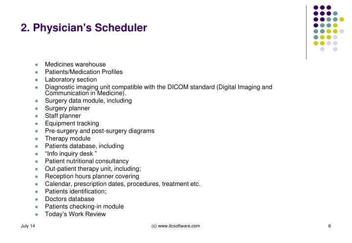 2. Physician's Scheduler
