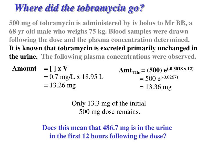 Where did the tobramycin go?