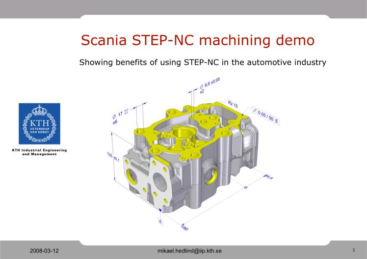 Scania step nc machining demo