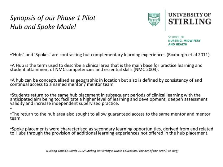 Synopsis of our Phase 1