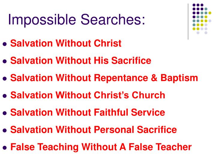 Impossible Searches: