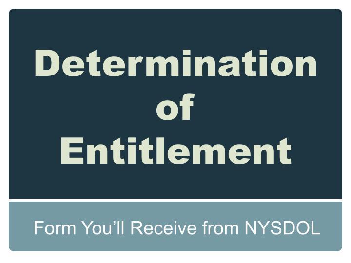 Determination of