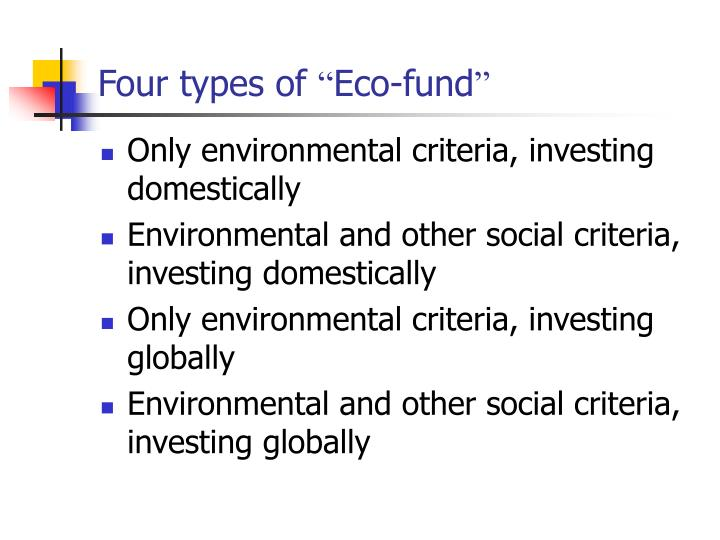 Four types of