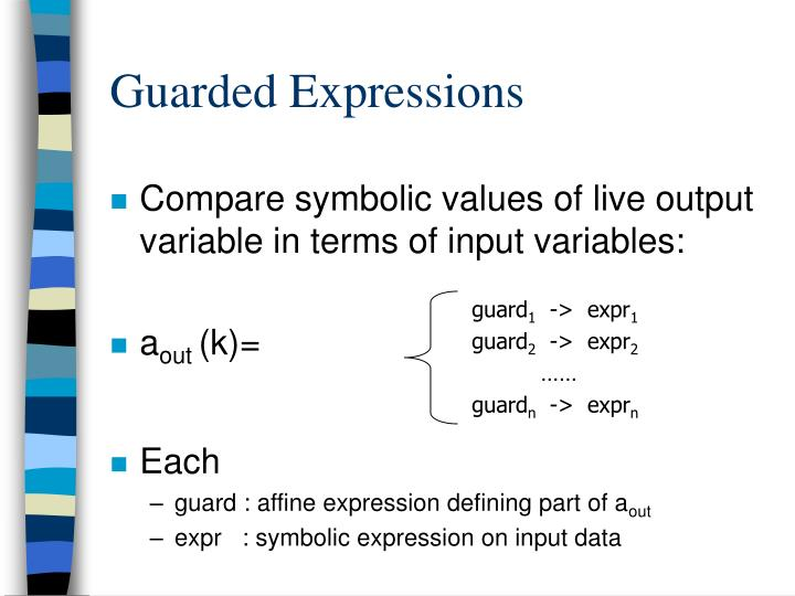 Guarded Expressions