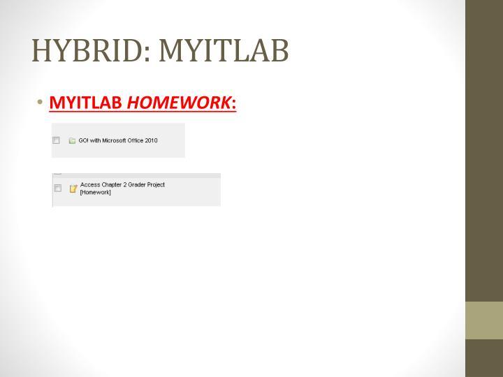 HYBRID: MYITLAB