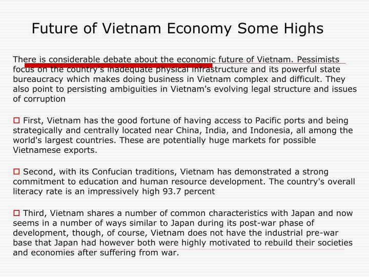 Future of Vietnam Economy Some Highs