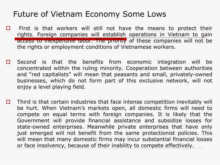 Future of Vietnam Economy Some Lows