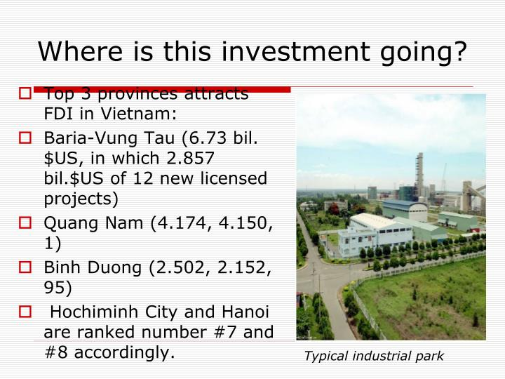 Top 3 provinces attracts FDI in Vietnam: