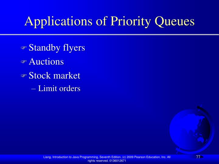 Applications of Priority Queues