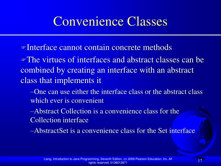 Convenience Classes