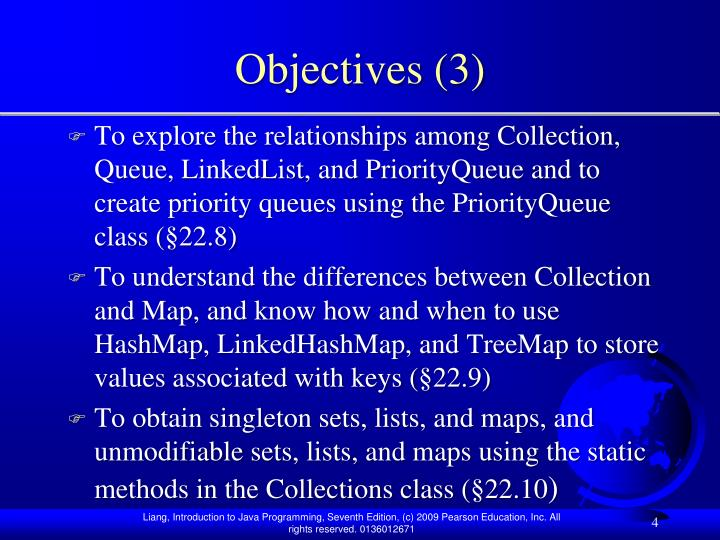 Objectives (3)