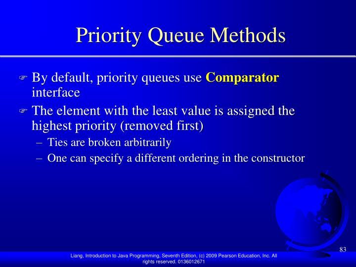 Priority Queue Methods