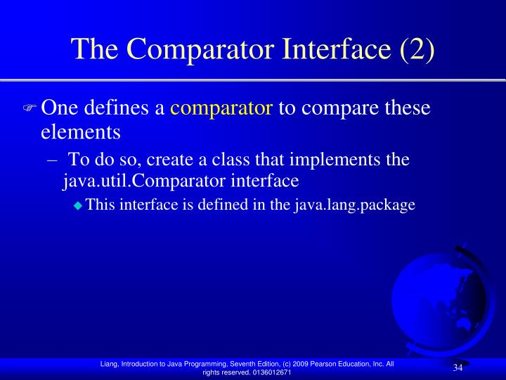 The Comparator Interface (2)