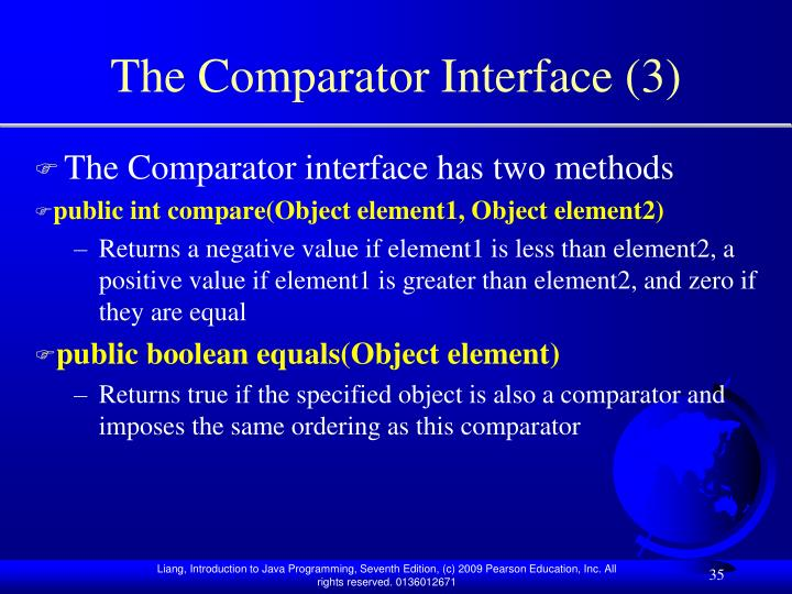 The Comparator Interface (3)