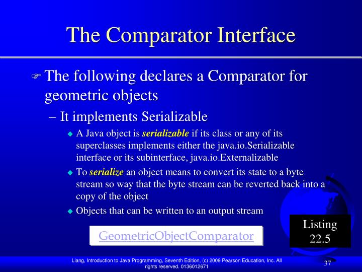 The Comparator Interface