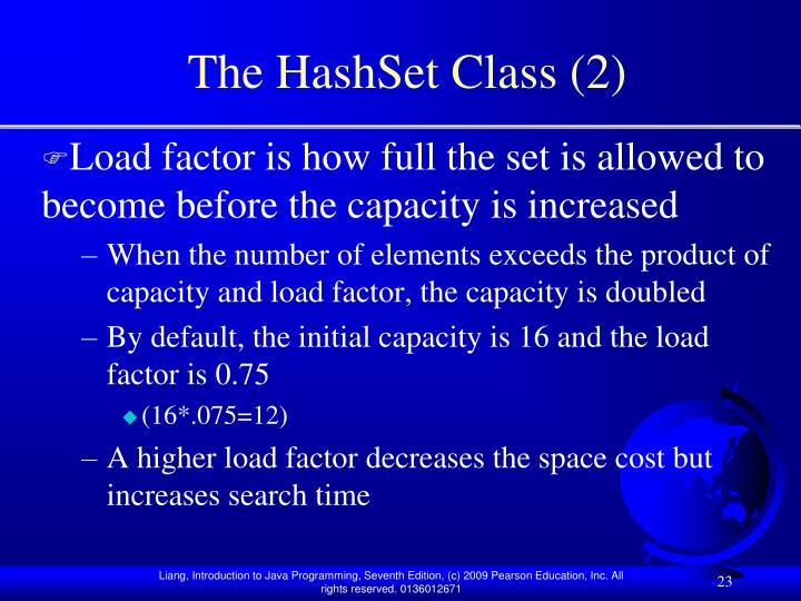 The HashSet Class (2)
