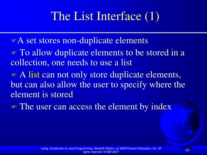The List Interface (1)