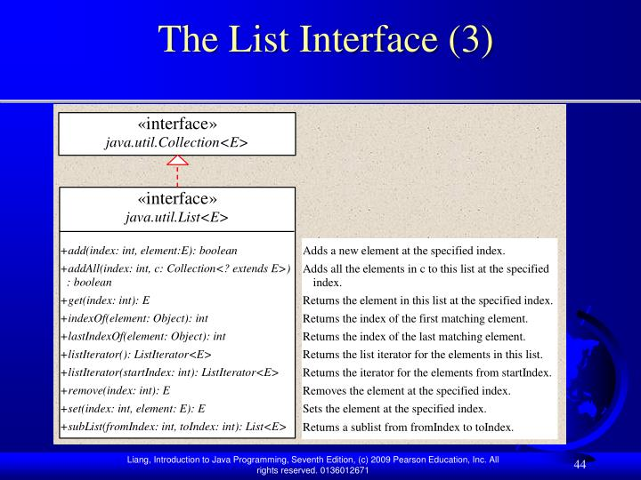 The List Interface (3)