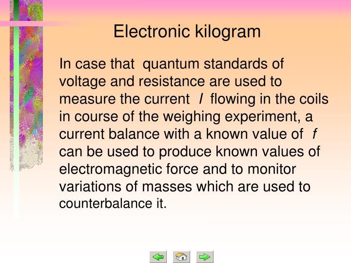 Electronic kilogram