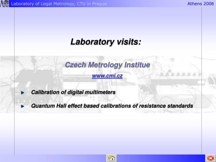 Laboratory visits: