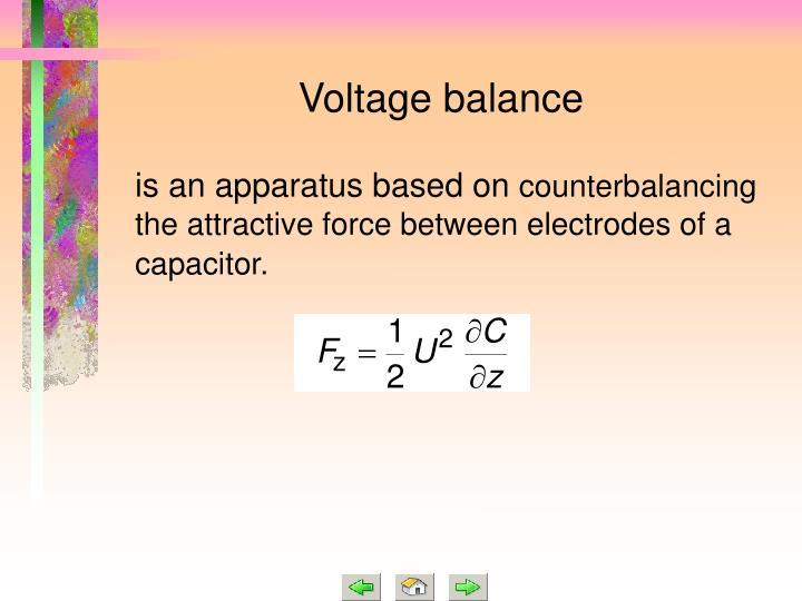 Voltage balance