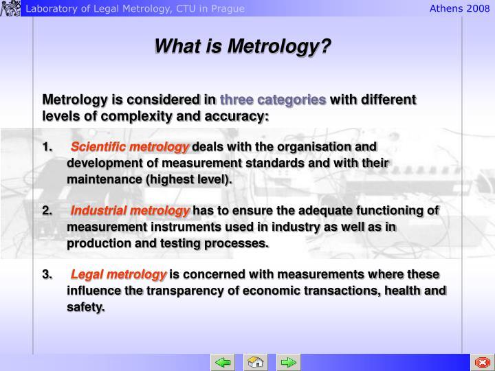 What is Metrology?