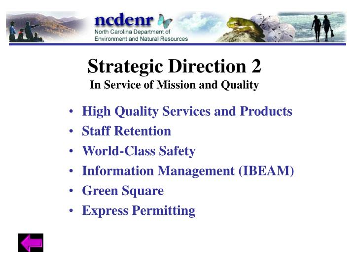 Strategic Direction 2