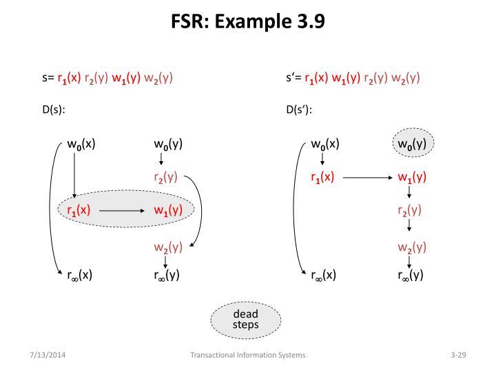 FSR: Example 3.9
