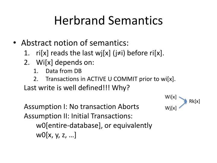 Herbrand Semantics
