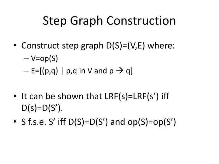 Step Graph Construction