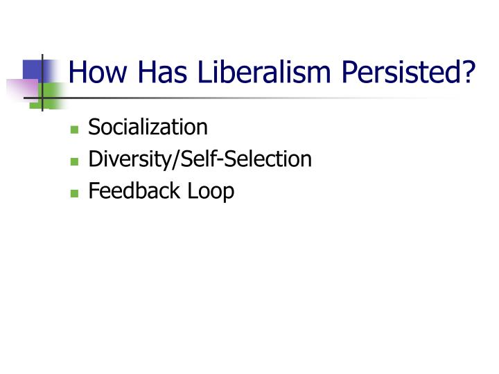 How Has Liberalism Persisted?