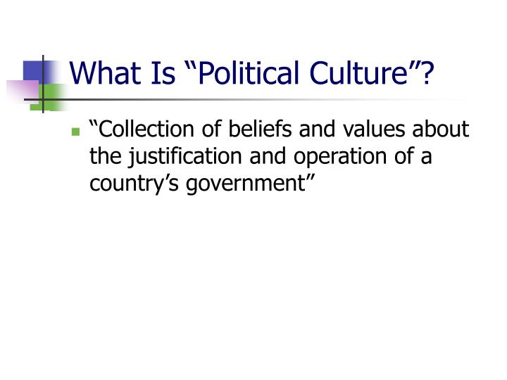 "What Is ""Political Culture""?"