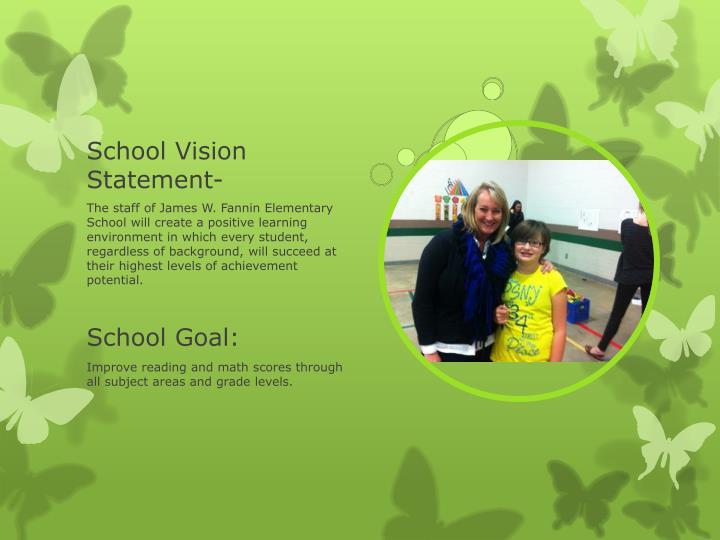 School Vision Statement-