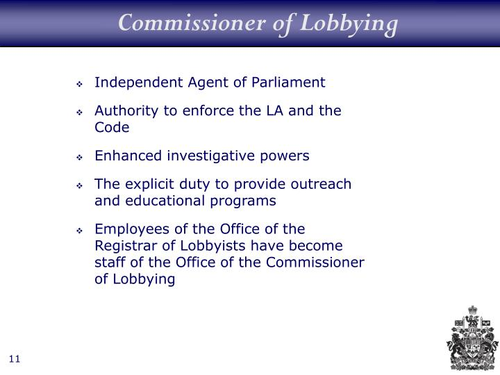 Commissioner of Lobbying