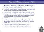 public office holders poh
