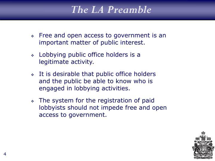 The LA Preamble