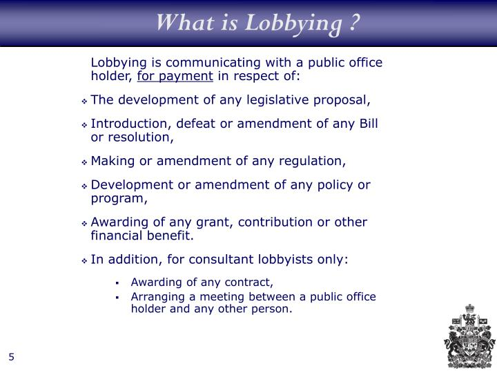 What is Lobbying ?