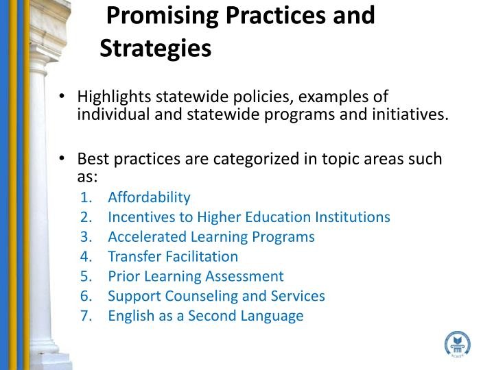 Promising Practices and Strategies